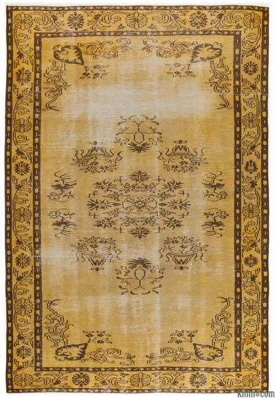 "Over-dyed Turkish Vintage Rug - 5'10"" x 8'11"" (70 in. x 107 in.)"