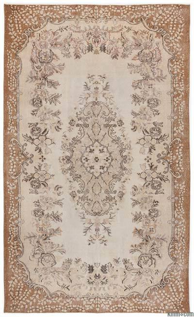 "Over-dyed Turkish Vintage Rug - 6'1"" x 9'10"" (73 in. x 118 in.)"