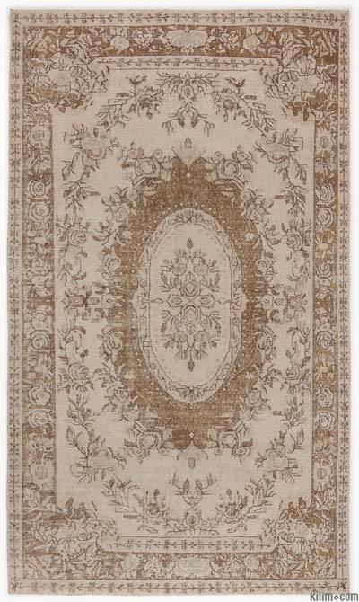 "Over-dyed Turkish Vintage Rug - 6'1"" x 9'3"" (73 in. x 111 in.)"