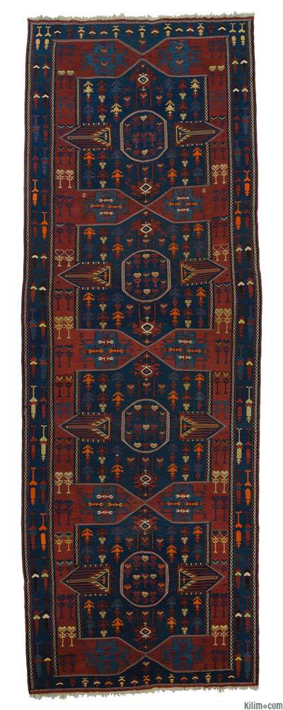 Blue Antique Avar Kilim Runner
