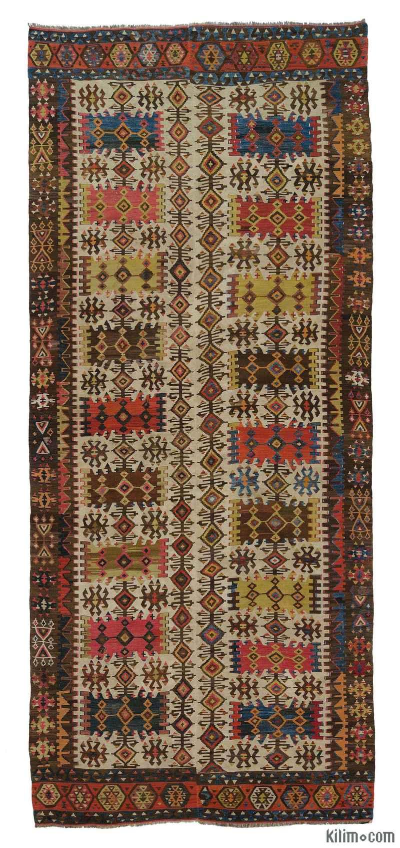 K0007937 Multicolor Antique Hotamis Kilim Rug