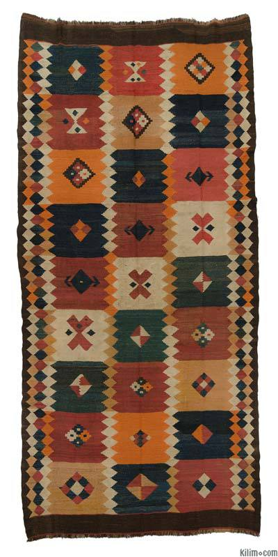 Multicolor Antique Tajik Kilim Rug