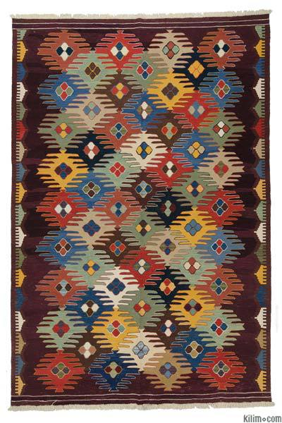 "New Handwoven Turkish Kilim Rug - 6'9"" x 10' (81 in. x 120 in.)"