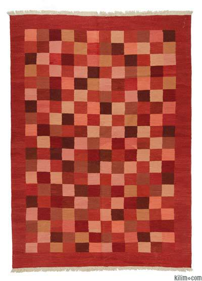 Red, Pink New Turkish Kilim Rug