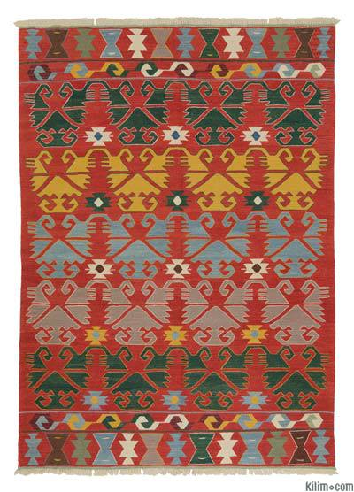 "New Handwoven Turkish Kilim Rug - 6'1"" x 8'8"" (73 in. x 104 in.)"