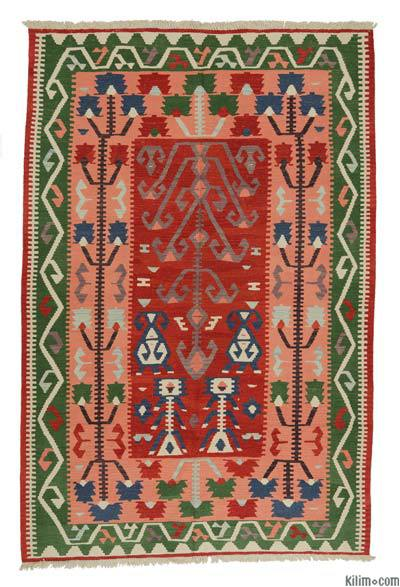 "New Handwoven Turkish Kilim Rug - 6'1"" x 9'2"" (73 in. x 110 in.)"