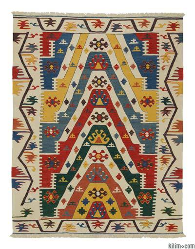"New Handwoven Turkish Kilim Rug - 5'11"" x 7'7"" (71 in. x 91 in.)"