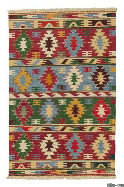 "New Handwoven Turkish Kilim Rug - 3'11"" x 6'1"" (47 in. x 73 in.)"