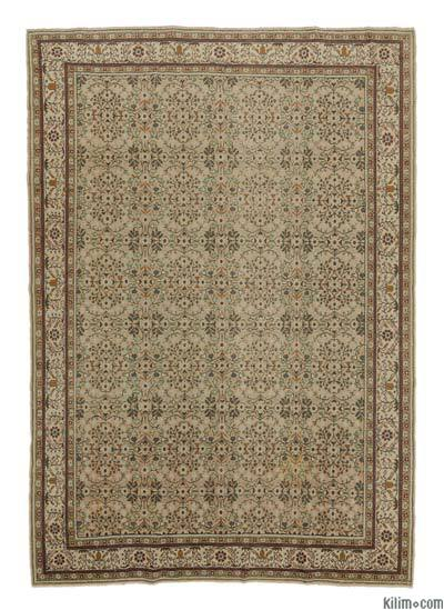"Turkish Vintage Area Rug - 6'5"" x 9'2"" (77 in. x 110 in.)"