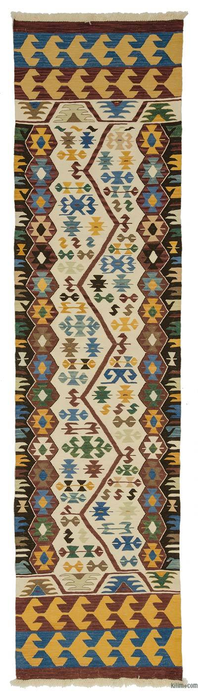 New Turkish Kilim Runner - 3'1'' x 12' (37 in. x 144 in.)