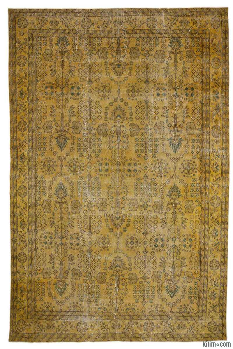 K0008328 Yellow Over Dyed Anatolian Vintage Rug