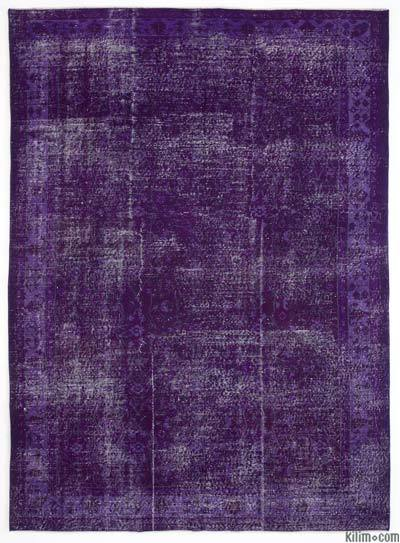 Purple Over-dyed Anatolian Vintage Rug - 6'9'' x 9'5'' (81 in. x 113 in.)