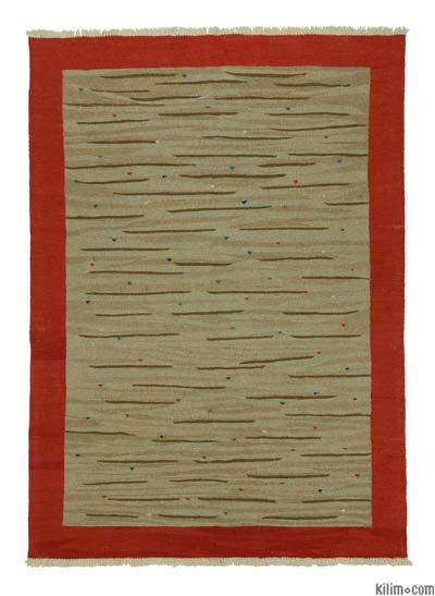 "New Handwoven Turkish Kilim Rug - 5'7"" x 7'10"" (67 in. x 94 in.)"