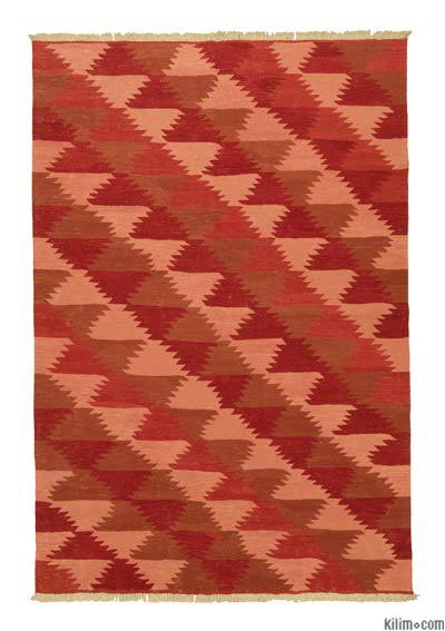 "New Handwoven Turkish Kilim Rug - 6'1"" x 8'11"" (73 in. x 107 in.)"
