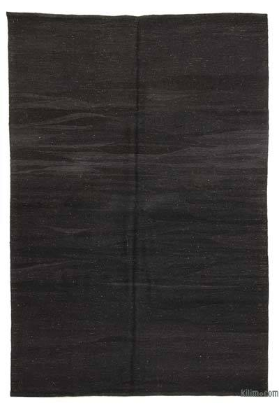 Black New Turkish Kilim Rug