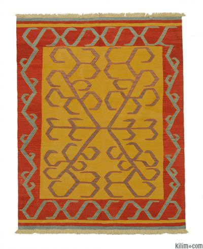 "New Handwoven Turkish Kilim Rug - 5'1"" x 6'6"" (61 in. x 78 in.)"