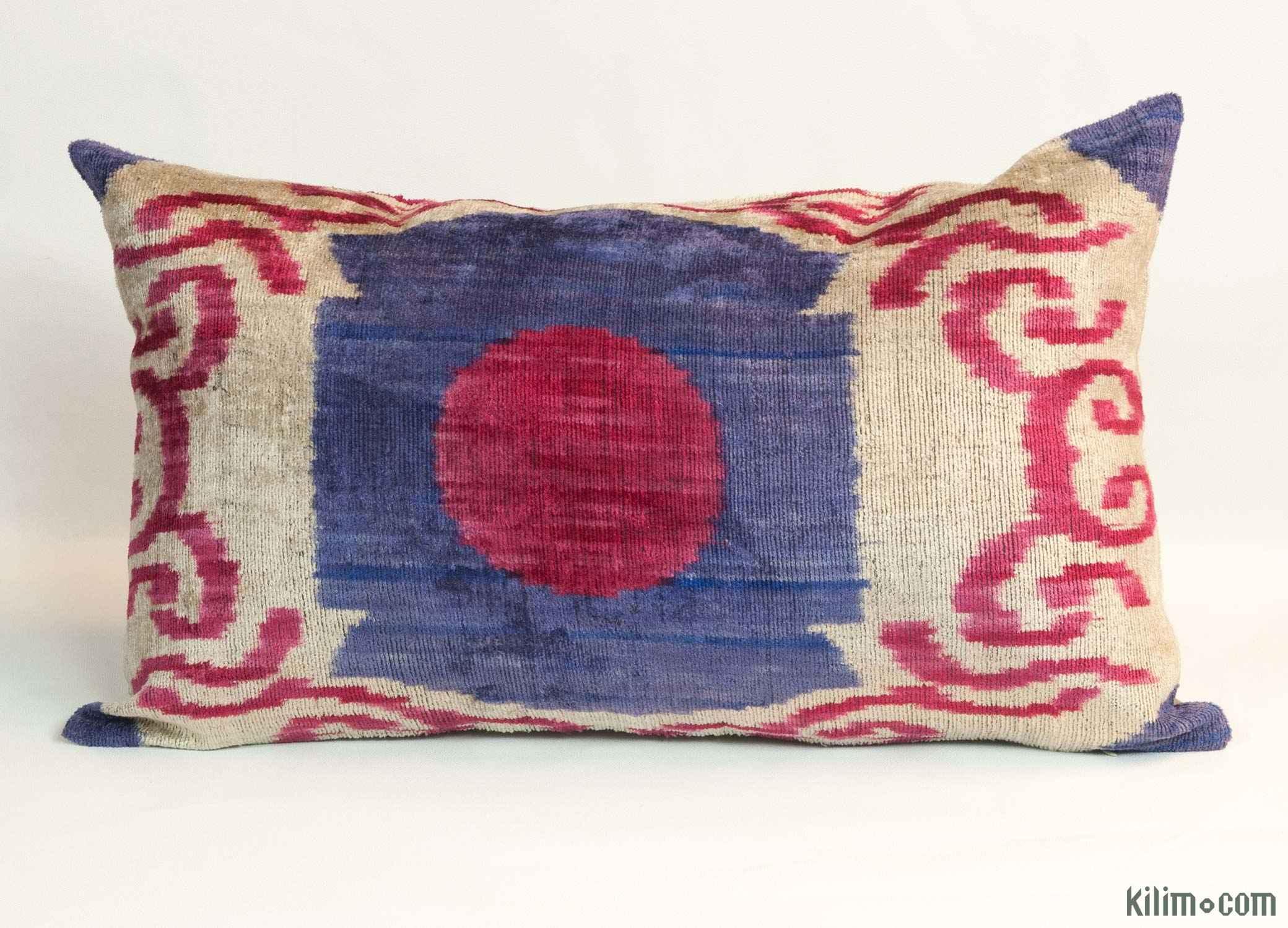 velvet ikat pillow cover