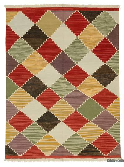 Multicolor New Turkish Kilim Rug - 6' x 8' (72 in. x 96 in.)