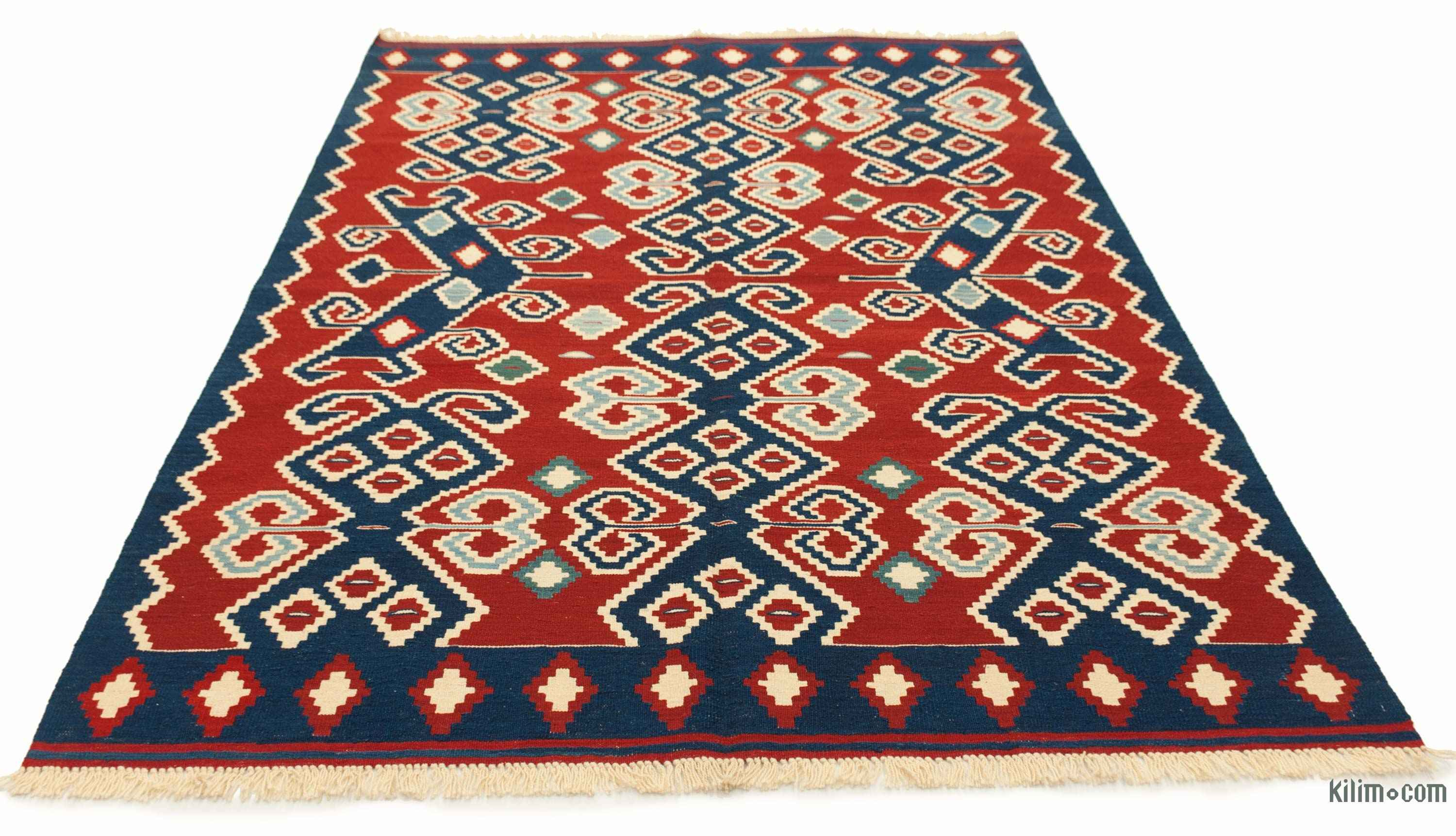 k0008836 red new turkish kilim rug. Black Bedroom Furniture Sets. Home Design Ideas