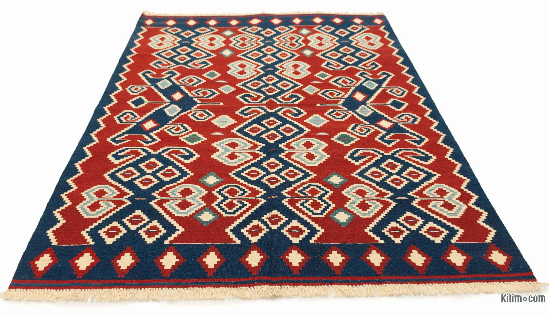 K0008836 Red New Turkish Kilim Rug