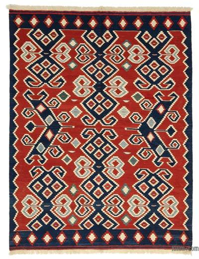 Red New Turkish Kilim Rug - 6' x 7'11'' (72 in. x 95 in.)