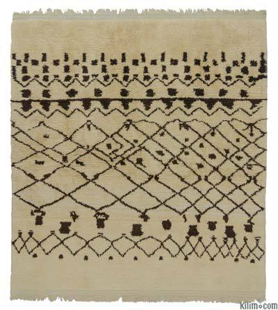 "New Turkish Tulu Rug - 7'9"" x 8'2"" (93 in. x 98 in.)"