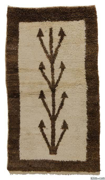 "New Turkish Tulu Rug - 3'8"" x 6'4"" (44 in. x 76 in.)"
