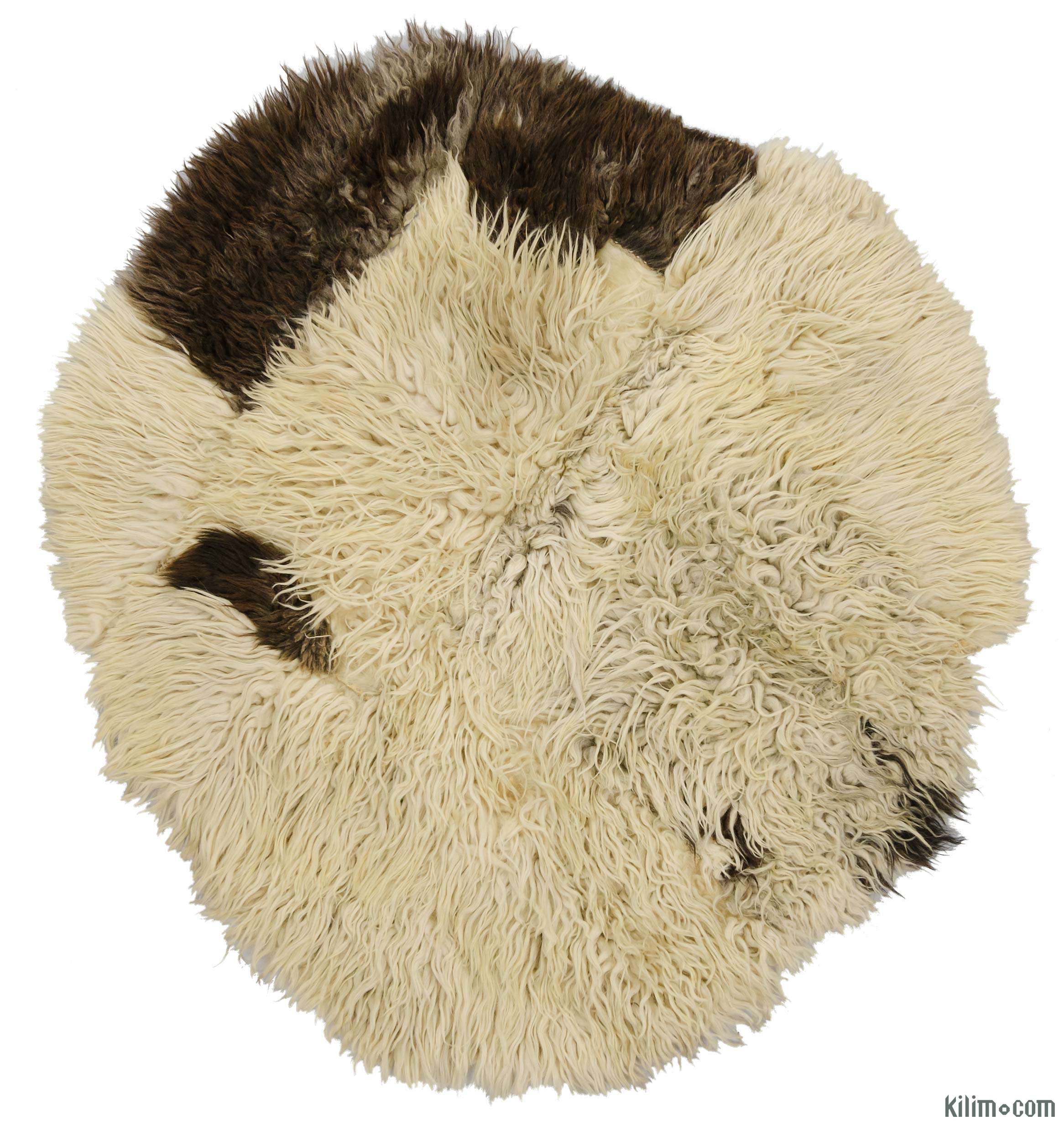 Beige Vintage Sheepskin Rug