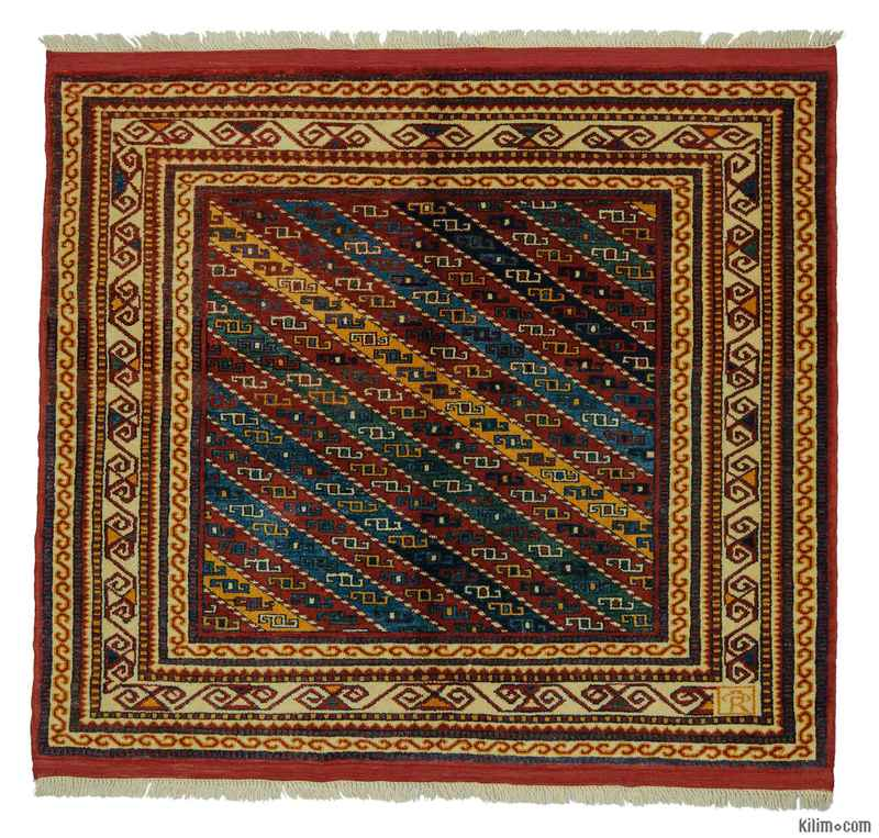 What Makes Turkish Rugs Great How You Can Read The Design Of A Turkish Rug: K0009023 Yellow New Turkish Pile Rug