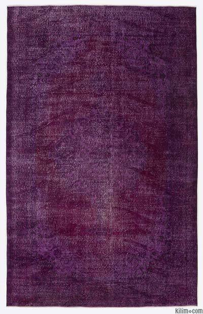 "Over-dyed Turkish Vintage Rug - 6'8"" x 10'5"" (80 in. x 125 in.)"