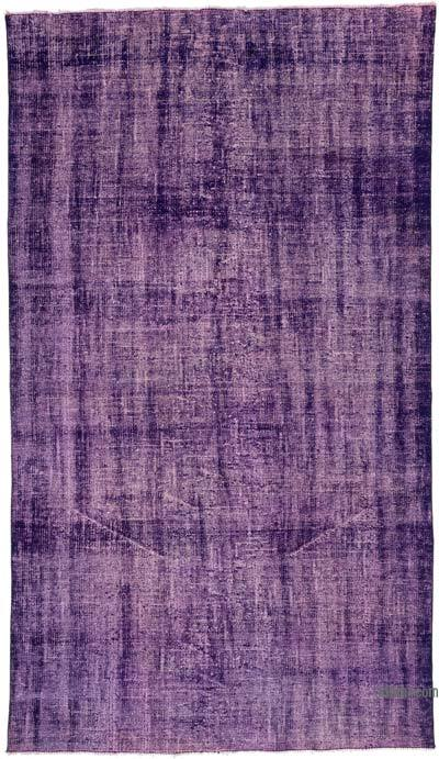 "Over-dyed Turkish Vintage Rug - 5'1"" x 8'11"" (61 in. x 107 in.)"