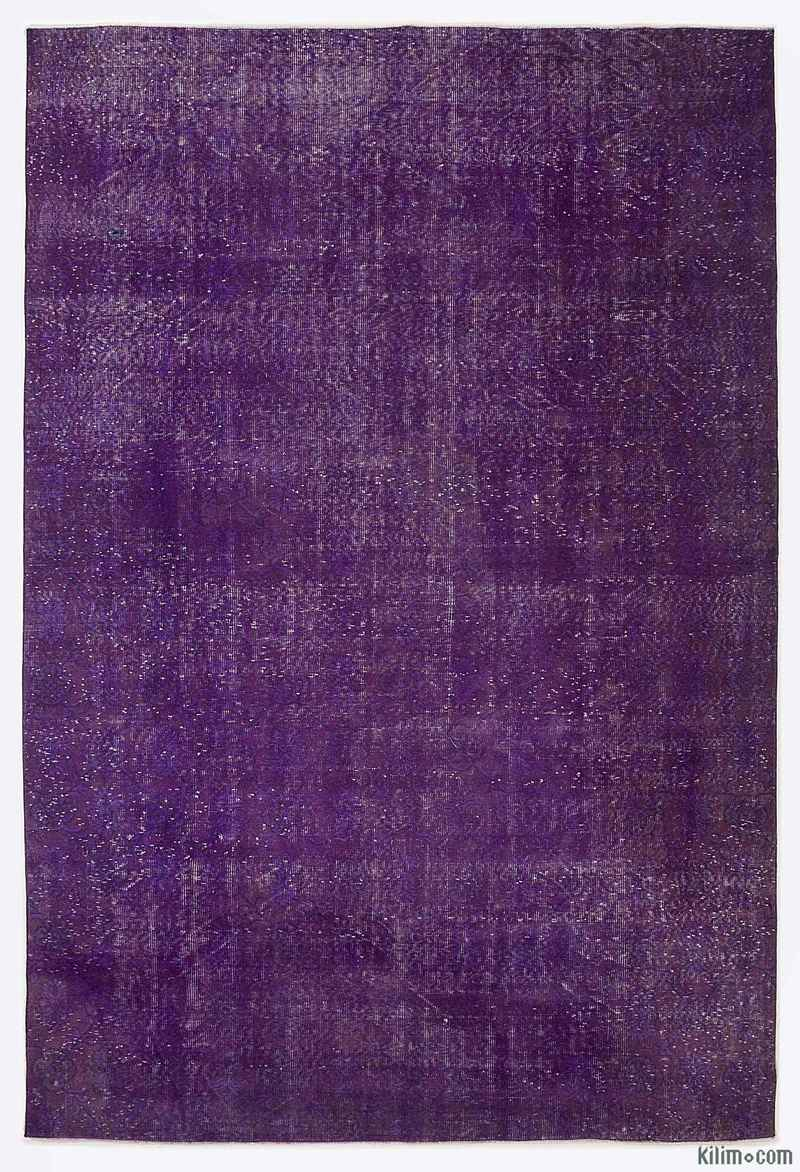 K0009083 Purple Over Dyed Turkish Vintage Rug 6 11 X