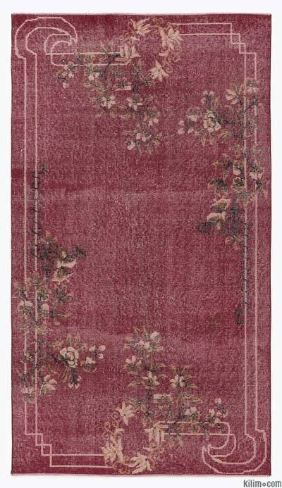 Red Turkish Vintage Rug - 3'11'' x 6'11'' (47 in. x 83 in.)