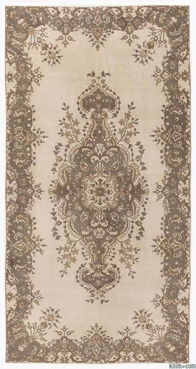 "Over-dyed Turkish Vintage Rug - 3'9"" x 7'8"" (45 in. x 92 in.)"