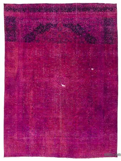 Fuchsia Over-dyed Vintage Rug - 9'4'' x 12'7'' (112 in. x 151 in.)