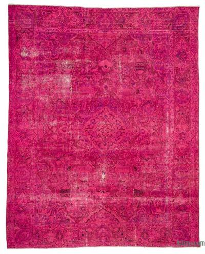 Pink Over-dyed Vintage Rug - 9'1'' x 11'11'' (109 in. x 143 in.)