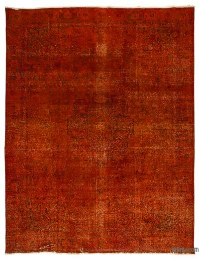 "Over-dyed Vintage Hand-knotted Oriental Rug - 9'3"" x 12'6"" (111 in. x 150 in.)"