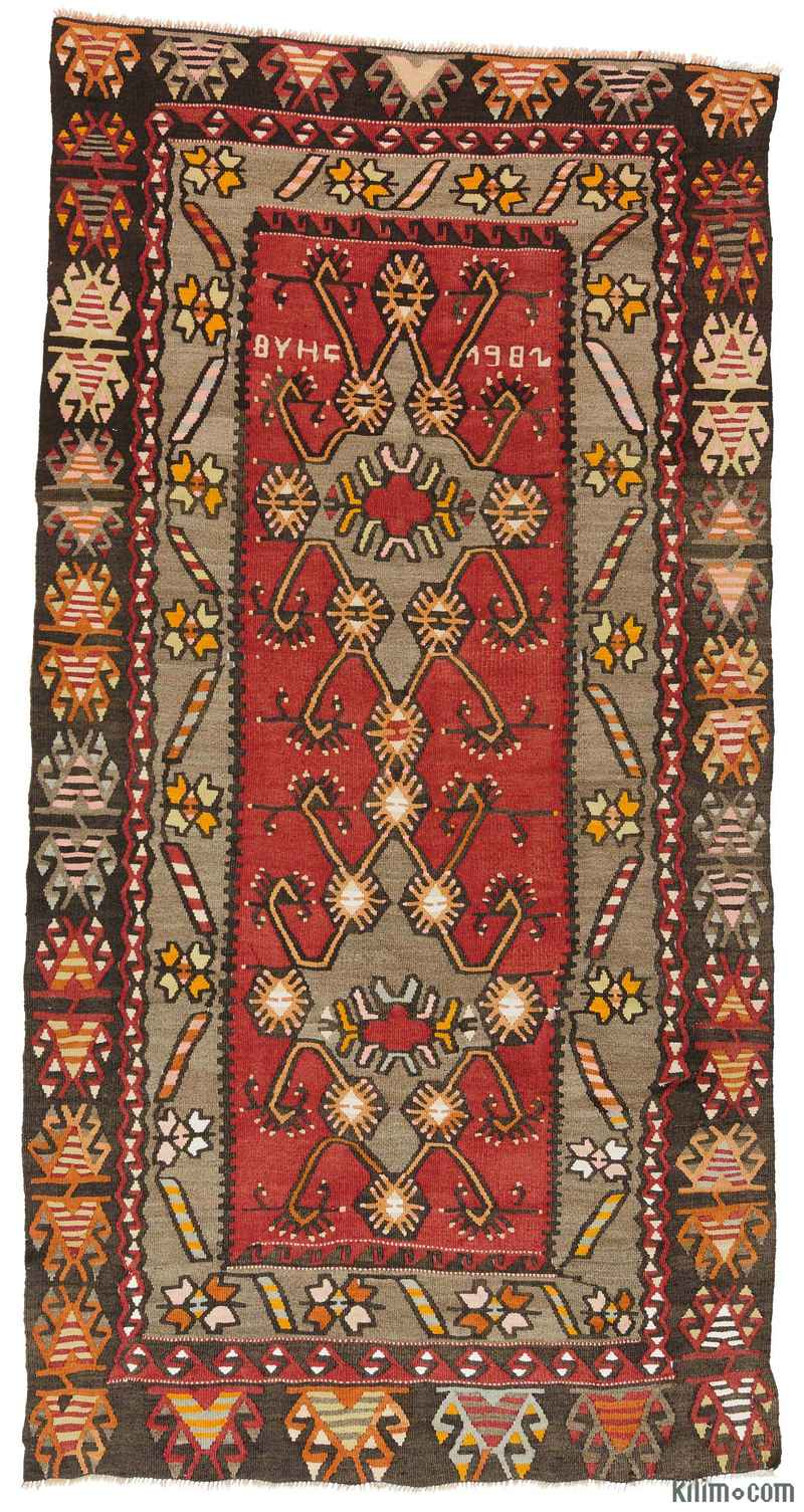 k0009535 red vintage kirsehir kilim rug. Black Bedroom Furniture Sets. Home Design Ideas