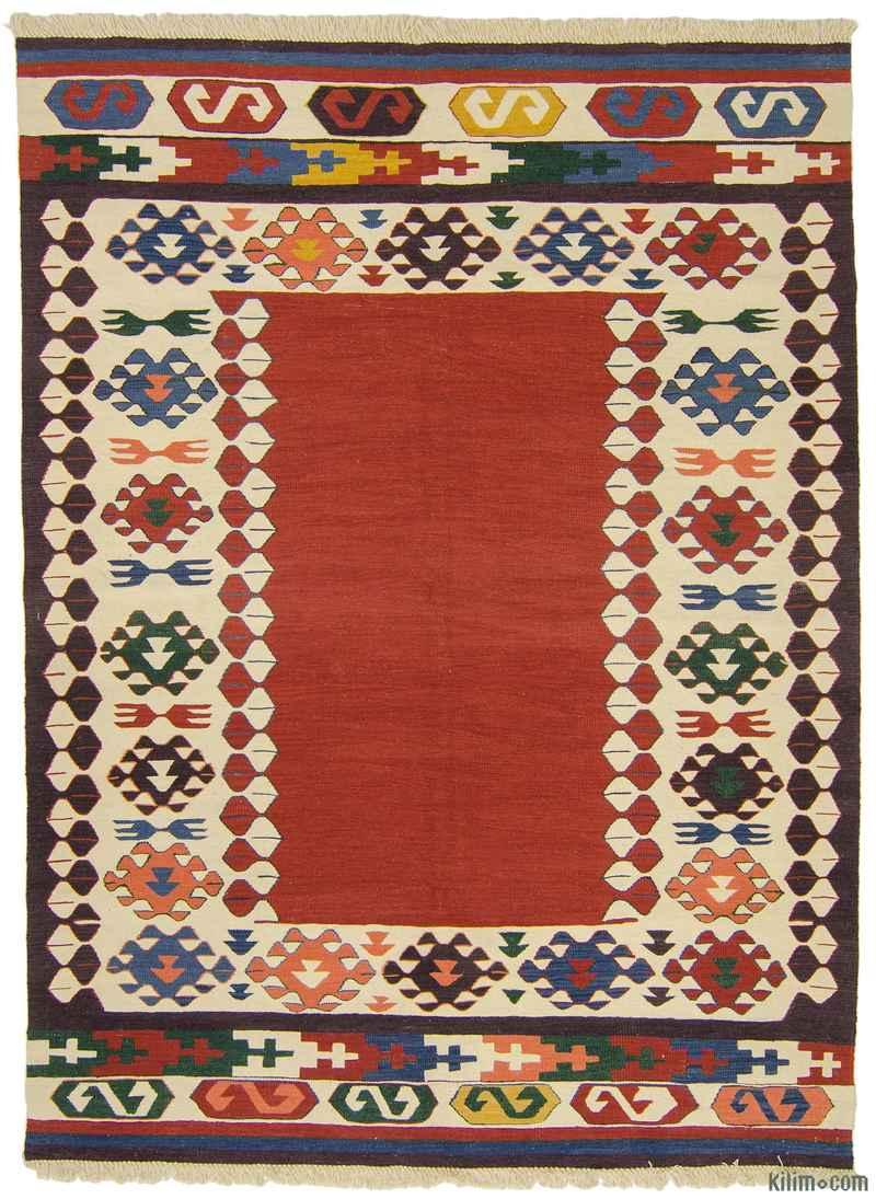 K0009647 Red New Turkish Kilim Rug