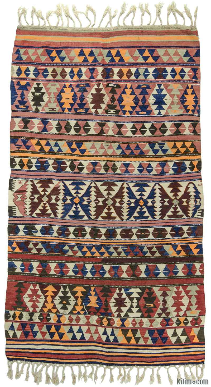 K0009710 Multicolor Antique Balikesir Kilim Rug