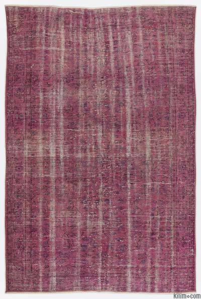 "Over-dyed Turkish Vintage Rug - 6'1"" x 9' (73 in. x 108 in.)"