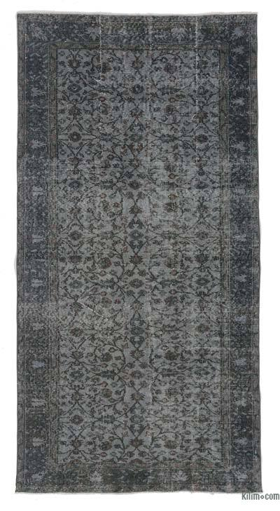 Grey Over-dyed Turkish Vintage Rug - 4'3'' x 8'5'' (51 in. x 101 in.)