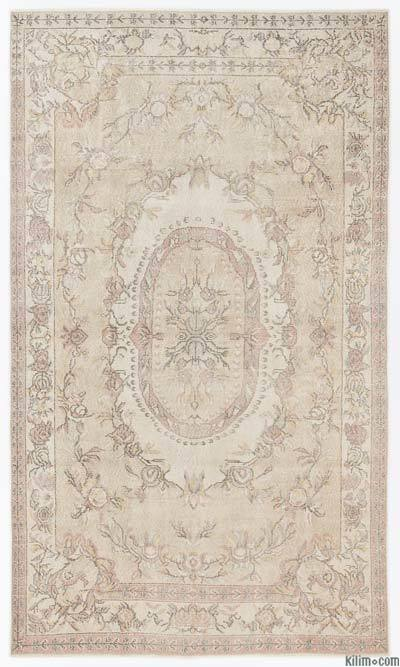 "Over-dyed Turkish Vintage Rug - 5'8"" x 9'6"" (68 in. x 114 in.)"