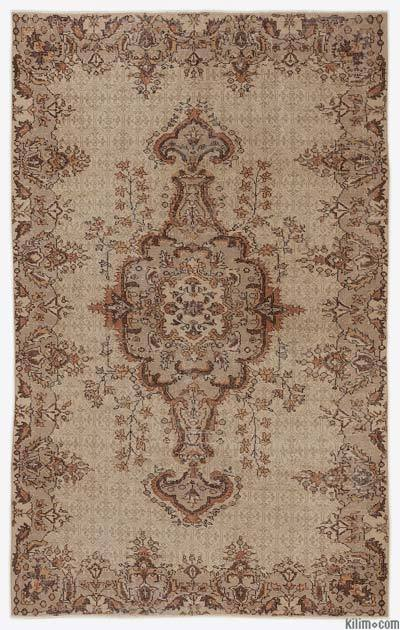 Turkish Vintage Area Rug - 5'10'' x 9'1'' (70 in. x 109 in.)