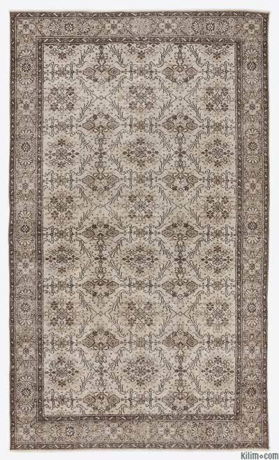 "Over-dyed Turkish Vintage Rug - 5'7"" x 9'6"" (67 in. x 114 in.)"
