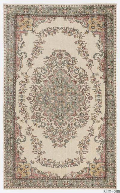 Turkish Vintage Area Rug - 5'11'' x 9'6'' (71 in. x 114 in.)