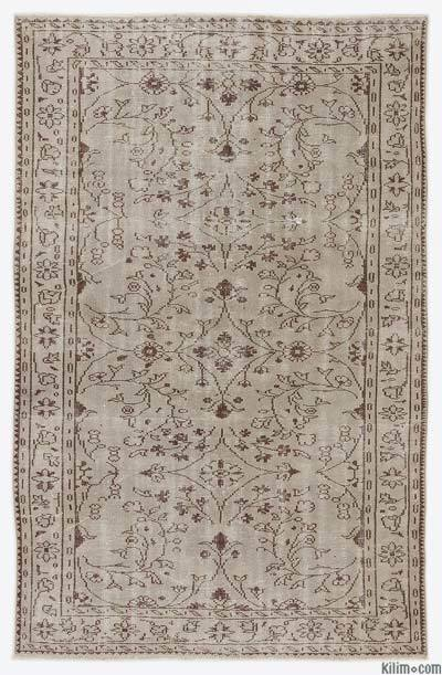 "Over-dyed Turkish Vintage Rug - 5'8"" x 8'11"" (68 in. x 107 in.)"
