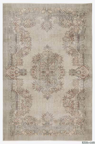 "Over-dyed Turkish Vintage Rug - 6'3"" x 9'6"" (75 in. x 114 in.)"