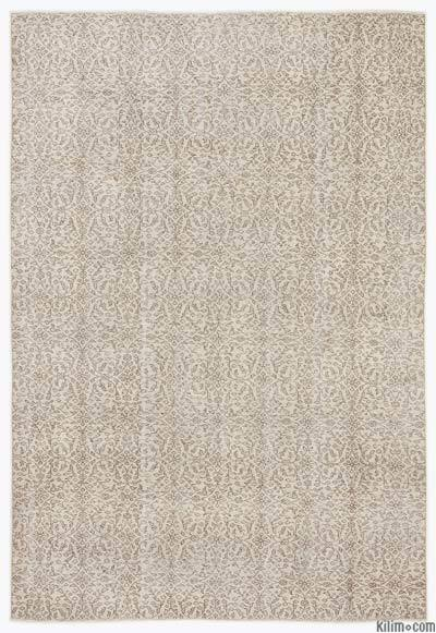 "Over-dyed Turkish Vintage Rug - 6'8"" x 9'10"" (80 in. x 118 in.)"