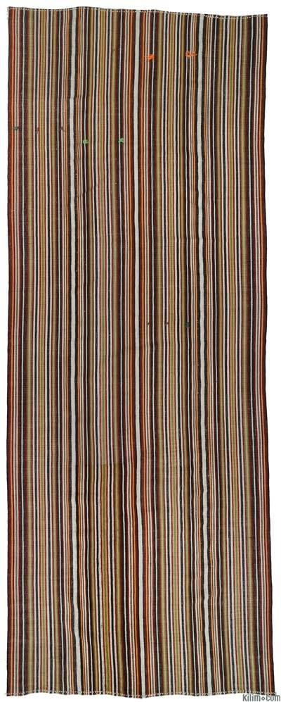 Vintage Turkish Flatweave Rug - 5'5'' x 13'11'' (65 in. x 167 in.)
